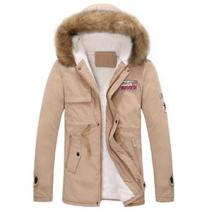 2018 New Winter Jacket for men Colletto di pelliccia Piumino da uomo Cappotto imbottito di cotone Parka maschile Manteau Homme