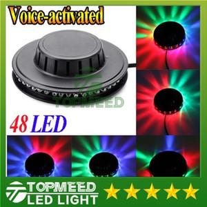 DHL Sunning Light RGB lighting 48leds Full Color LED Crystal Stage Light Auto Rotating Stage Effect DJ lamp mini Stage Light Bulb 200200