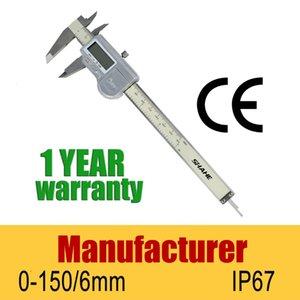 Оптовая продажа-IP67 водонепроницаемый 6 дюймов 150 мм композитный цифровой электронный штангенциркуль датчик цифровой электронный микрометр правитель штангенциркули