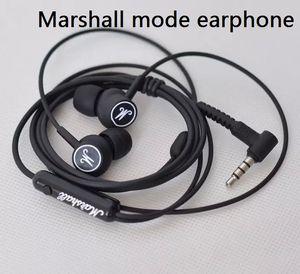 Livraison directe du nouveau casque Marshall Mode casque intra-auriculaire écouteurs noir avec micro casque HiFi universel pour téléphones mobiles