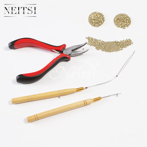 Strumenti di estensione dei capelli del corredo di 3pcs del kit di Neitsi + 500Pcs perline nano dell'anello