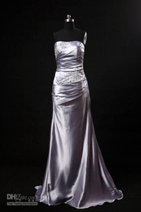 Bridesmaid Dress cheap beaded empire waist strapless Evening Dresses party Prom dresses Bridesmaid Dress free shipping