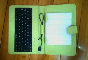 """7 9inch Tablet PC PU Leather Keyboard Stand Case For 7 9 Inch Kids Tablet PC Q88 A33 7"""" 9"""" Keyboard Cover Case DHL"""