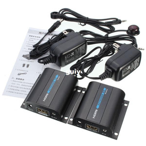 Marka Yeni HDMI 1080 P Genişletici Dönüştürücü Alıcı Gönderen IR Upto 60 M Video / Ses Cat6 Üzerinden Uzatmak / Cat7
