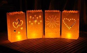Style de feu d'artifice Décoration de mariage en plein air Titulaire de la lumière de thé Luminaria Paper Lantern Candle Bag Pour l'approvisionnement du festival