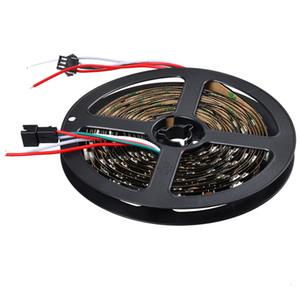 5v pcb ws2812b negro flexible del LED 30leds la luz de tira / m 30pixels / m 5m / roll ws2812 ws2811 tiras digtial llevaron luces no-impermeable cinta IP20