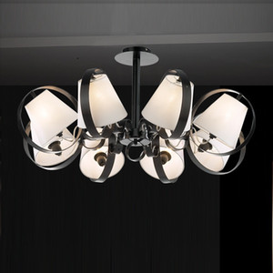 8 Heads Brief 새로운 현대 LED 크리스탈 천장 조명 미니멀리즘 거실 천장 조명 크리스탈 램프 라운드 크리스탈
