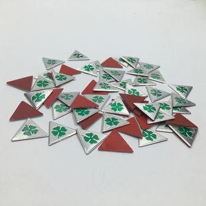 30pcs 20 mm Bonne qualité en aluminium pour ALFA ROMEO Cloverleaf vert Delta Logo voiture emblème badge autocollant Autocollants