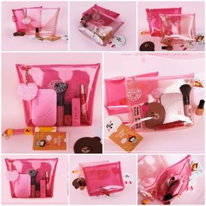 Женщина макияж сумка косметичка красота Handsbag водонепроницаемый путешествия макияж организатор желе прозрачный ПВХ сумка для хранения DHL бесплатно