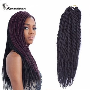 Tresses Africaines 100g / pack 3pcs Boîte / Crochet Tresses Cheveux Africains tresses Bundles extensions ondes Vente chaude livraison gratuite
