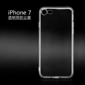 آيفون 8 8th 7 زائد Iphone7 I7 7GEN لينة TPU القضية مع الغبار التوصيل واضح شفاف سيليكون المطاط كريستال الجلد غطاء الهاتف الخليوي Celular