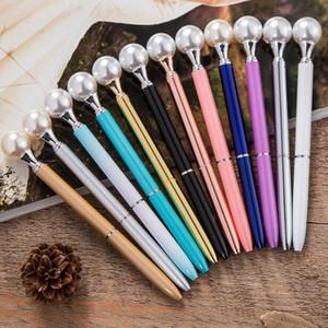 Kawaii Coloré Perle en métal Stylos À Bille Reine béquille BallPen Cadeau Ballpoit Stylos Fournitures Scolaires boligrafos G874