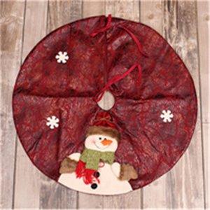 Al por mayor-High Quallity muñeco de nieve falda del árbol Santa Claus Christmas Tree Skirt Bells suministros de Navidad Venta De Navidad