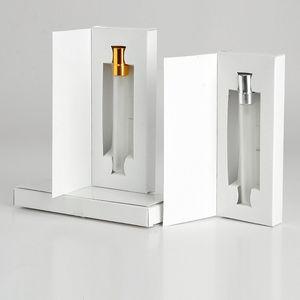 5 ML 10 ML Frasco de Vidro Perfume Atomizador Parfum Spray Garrafa com Caixa de Embalagem de Cosméticos Amostra Vial Garrafas Recarregáveis F20172469