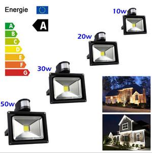 Al aire libre llevó el reflector 10W 30W 50W PIR detective sensor de inundación del LED proyector LED de luz de la lámpara de luz del sensor refletor paisaje