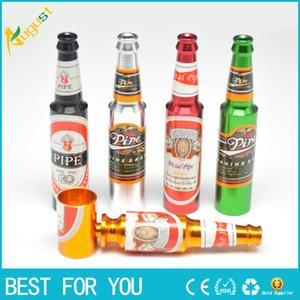 Creativo Fumatori Accessori Mini Pipa di fumo Tubo di metallo Pipa Piccola bottiglia di birra popolare modello Grande e Piccola dimensione del tubo 2016