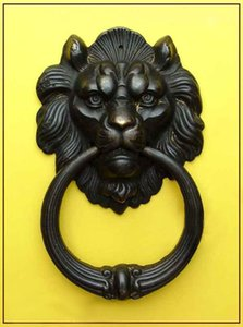 Wholesale cheap New Chinese Bronze Fierce Lion Head Door Knocker 7