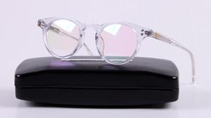 Marka Glasses-2017 Yeni Erkek Kadın V marka MILAN 01 gözlük çerçeve İş adamı yuvarlak gözlükler metal Miyopi Okuma Optik çerçeveleri gözlük