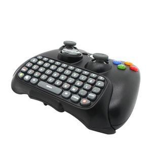 Preto Sem Fio Mensageiro Chatpad Teclado Teclado Almofada de Texto para Xbox 360 Controlador Xbox360 tempo feliz Atacado