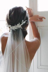 Capilla de la boda velo blancos del nuevo estilo 3m velo de novia con el cristal moldeado blanco largo velo de novia con accesorios de la boda del peine veu de novia