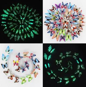 Toptan 100 ADET 3D Aydınlık Kelebek Duvar Çıkartmaları ile Mıknatıs 10 CM Kanat Renkli Kelebekler Yatak Odası Oturma Odası Ev Dekor Fridage Dekor