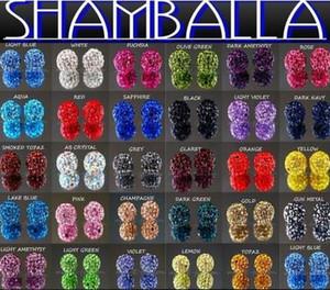 g3536 10mm misturados Micro Pave CZ Disco bola de cristal Shamballa Bead Bracelet Colar Beads.Hot espaçador contas Lot! strass DIY r6342 espaçador