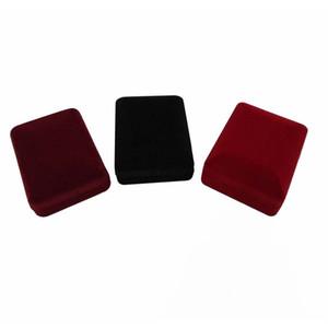20Pcs rettangolo caso di esposizione dei monili 3 colori Velvet Orecchino Storage Box regalo dell'organizzatore Collana Holder Gift Box