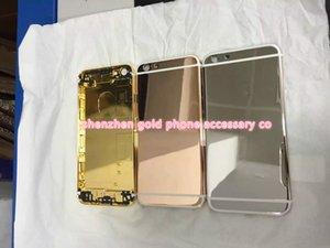 24K позолота задняя крышка корпуса чехол кожа крышка батарейного отсека для iPhone 6G 6 плюс 5S 4S 5 4 роскошный лимитированный выпуск рамка лицевой панели 24Kt лицевой панели