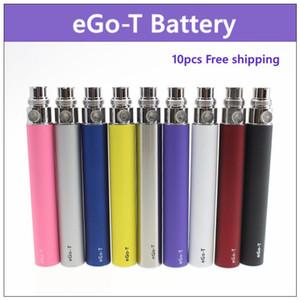 10 pz / lotto eGo-t batteria eGo 650mah 900mah 1100 mah batterie sigarette elettroniche 510 thread per CE3 CE4 atomizzatore MT3 protank H2