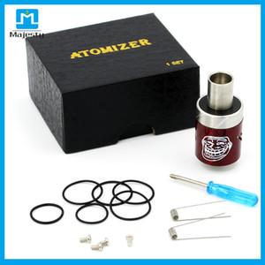 Mad Hatter RDA Atomizer أضعاف نصائح بالتنقيط RDA السيجارة الإلكترونية رذاذ الفولاذ المقاوم للصدأ النحاس أسود أبيض