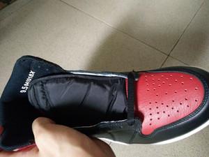Basketbol ayakkabıları Yasaklı 2016 erkekler atletik ayakkabı perakende toptan 555088-001