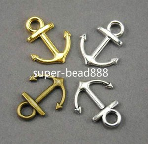 300Pcs antico argento bronzo Vintage nautico Anchor Charms ciondolo per monili che fanno 19 * 15mm