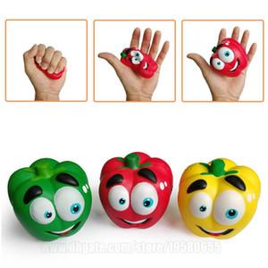 Jumbo vegetal Squishie Chilli Pepper blando lento aumento de la fruta verde Squeeze correa del teléfono Simulación de chile envío libre de DHL SQU033