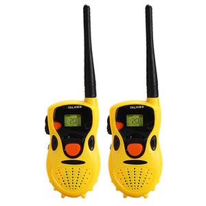 2 قطع الاطفال تخاطب ألعاب المحمولة walkie تخاطب الأطفال هدايا ألعاب تعليمية مضحك ألعاب إلكترونية الأصفر