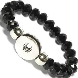 Zb389 Heißer Verkauf Snap Armband Armreifen 10mm Kristall Perlen 18mm Snaps Hohe Qualität Diy Druckknöpfe Schmuck Single Snap Weihnachtsgeschenk
