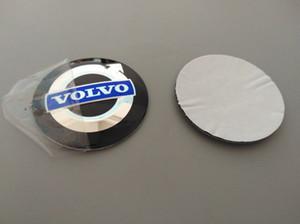 Placa de aluminio del coche 56.5mm 3D centro de rueda de la etiqueta engomada del casquillo de eje durable del emblema del logotipo de accesorios para automóviles rueda de la decoración apta para Volvo / VW / BMW / Toyota