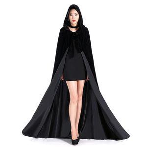 다른 색상 싸구려 벨벳 후드 망토 겨울 웨딩 망토 Wicca Robe Warm Christmas Long Bridal S-6XL