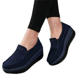 2017 Осень женщины плоские туфли на платформе кожа замша дамы повседневная обувь скольжения на балетки, элегантные мокасины бахрома Криперс