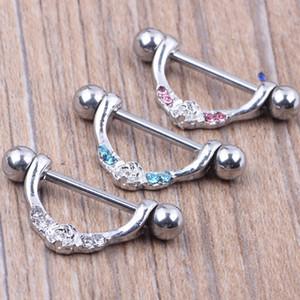 Piercing no corpo do piercing jóias da moda 14G 316L barra de aço cirúrgico níquel-livre NOVA mix de design 3 cores para a mulher