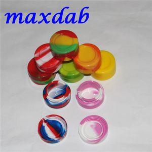 Nonstick Wax Containers silicone box 7ml Silicon container Non-stick food grade wax jars dab storage dabber jar oil holder for tank