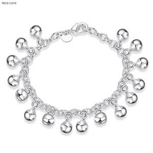 Bell charme bracelet plaqué argent sterling 925 bijoux mode belle anniversaire cadeau femme jingling bracelets chaud livraison gratuite