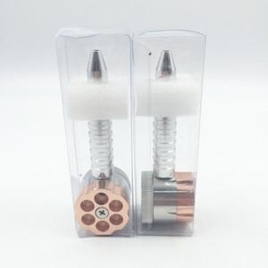 Rectificadora de tubo de revólver de doble propósito de 2 capas Aleación de zinc de seis disparos Aleación de tabaco de fumador de tabaco de 35MM