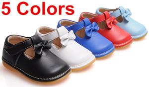 도매 - 2017 스핑크스 가을 아기 소녀 삐걱 거리는 신발 부드러운 단독 아기 신발 어린이 신발 5 색 1-3Yy 무료 배송