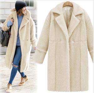 2016 En Iyi Satılanlar Avrupa Kış Yeni Desen Suit-elbise Kaşmir Kol Uzun Fon Palto Gevşek Coat Kadınlar Için Bayan Palto