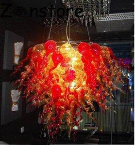 Feuerblume Chandelier- Esszimmer Dekor-Kunst-Lampen-LED-Licht-100% Hand geblasenem Glas Leuchter-Leuchte