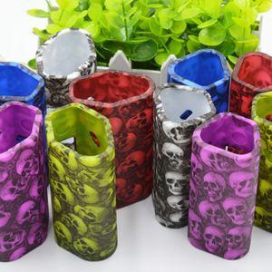 Wismec Reuleaux RX2 / 3 TC Kafatası Başkanı Silikon Kılıf Cilt Kapak Kılıfı Çanta silika jel Koruyucu kabuk Wismec Reuleaux RX2 3 için Sıcak satış DHL