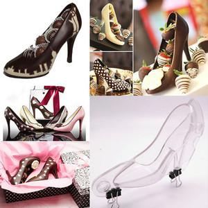 Пресс-формы для обуви на высоком каблуке, 3D шоколадные туфли плесень для украшения торта, конфеты, мыло, полимерная глина