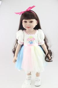 Полный винил Reborn Baby Doll18 дюймов /45 см ручной работы Марка американская кукла Lifesize Reborn Baby Doll игрушки девушки Рождественский подарок