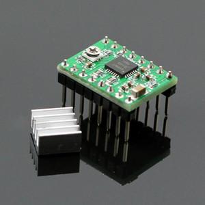 방열판이있는 3D 프린터 포장재 용 녹색 / 빨간색 A4988 스테퍼 모터 드라이버 모듈 B00174 BARD