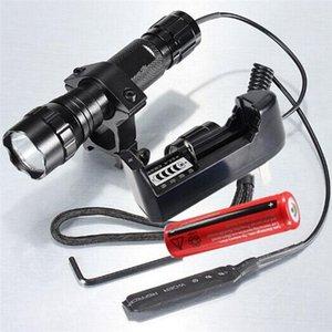 Горячая Ultrafire водонепроницаемый 1000Lm WF-501B ксенон тактическая охота 18650 Q5 светодиодный фонарик Факел+18650 аккумулятор+зарядное устройство+пульт дистанционного управления+крепление пистолета